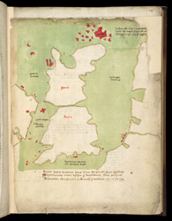 Map Of Great Britain,  Ca. 1450